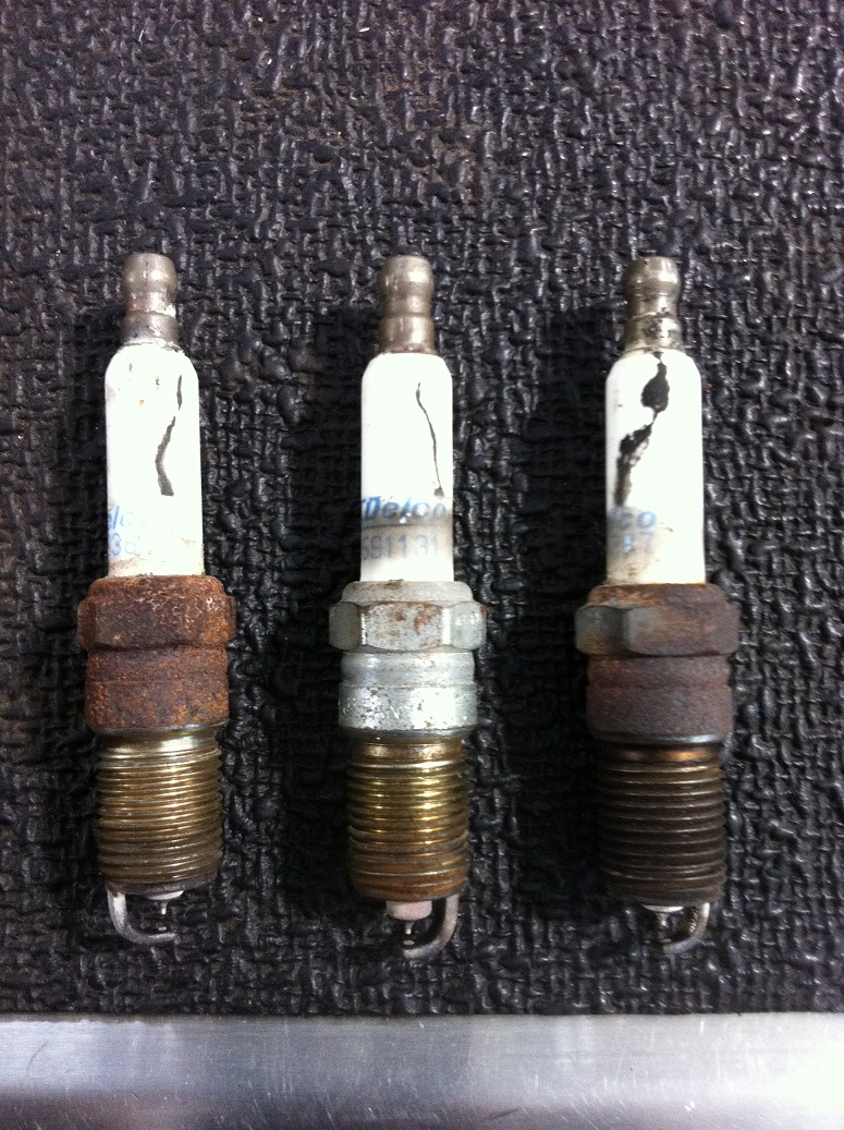 Spark plugs that have carbon tracking causes misfires