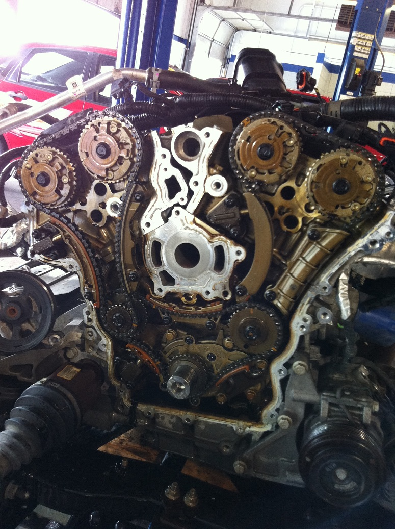 Replacing timing chains