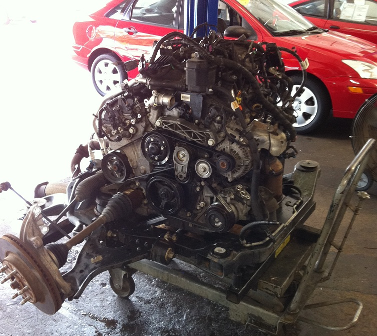 Chevy Traverse Engine removed