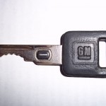 GM Passkey chip in the key. Used on older GM cars and trucks for the security system that causes your vehicle to not start.