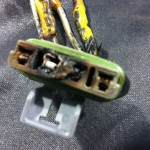 pic of burned blower resistor connector