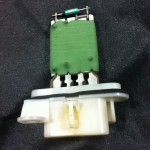 Picture of blower resistor assembly