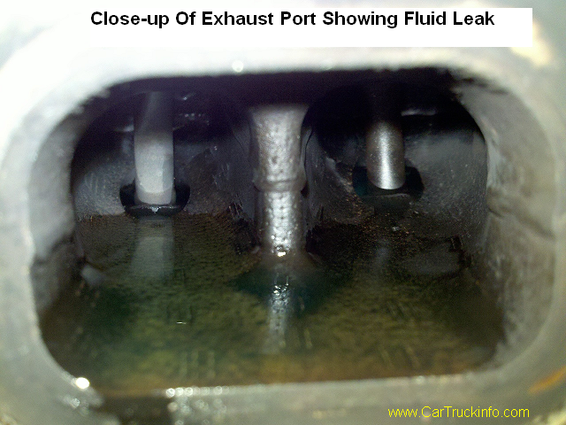 Exhaust Port Leaking on Ford Freeze Plug Replacement