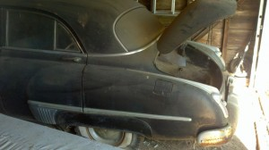 1949 Oldsmobile left rear quarter panel