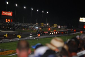 NHRA crash at night