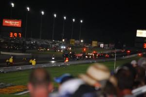 NHRA crash at night