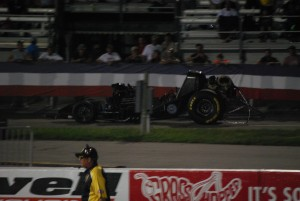 NHRA Funny car blew up at night